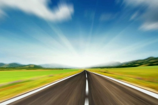 Road to Horizon Background for Android, iPhone and iPad