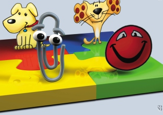 Картинка 3D Paper Clip Friends для андроида