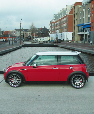 Red Mini Cooper Holland Background for Nokia C2-02