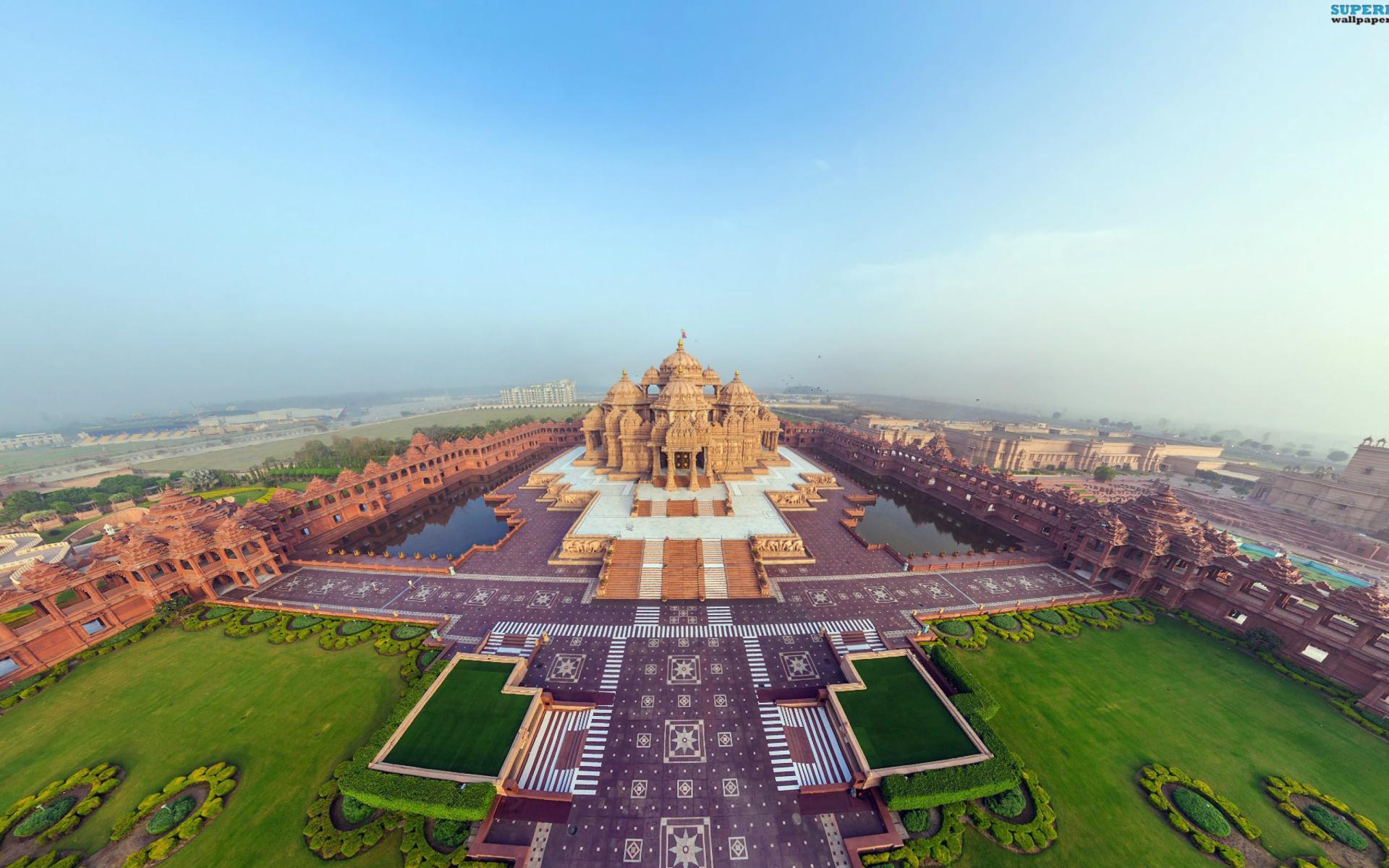 Akshardham Delhi India para Widescreen Desktop PC 1920x1080 Full HD