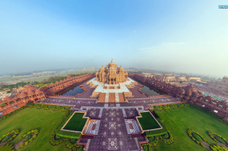 Akshardham Delhi India Background for Desktop 1280x720 HDTV