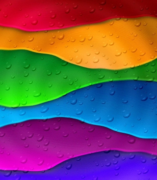 Rainbow Drops Background for Nokia Asha 311