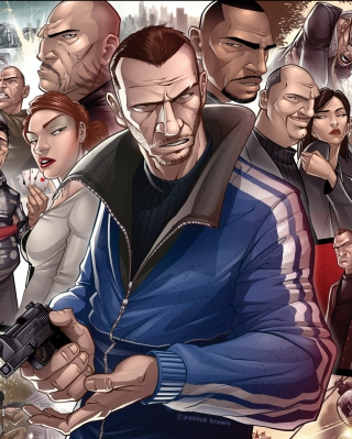 Grand Theft Auto Characters Picture for Nokia C2-03