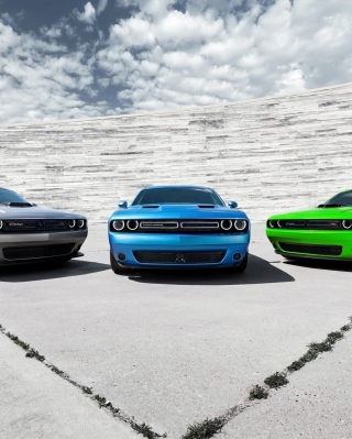 2015 Dodge Challenger Cars Background for iPhone 6 Plus