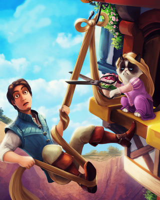 Grumpy cat Disney Picture for 480x800