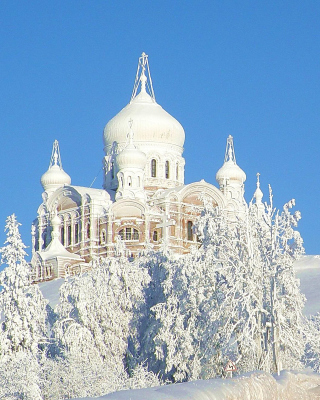 Winter Church Background for HTC Titan