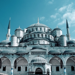 Kostenloses Sultan Ahmed Mosque in Istanbul Wallpaper für iPad 3
