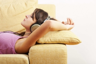 Relax in Headphones Picture for Android, iPhone and iPad