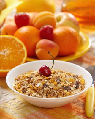 Kostenloses Healthy breakfast nutrition Wallpaper für 176x220