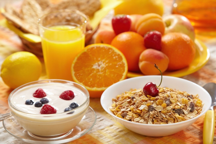 Healthy breakfast nutrition wallpaper