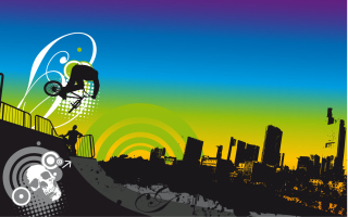 Urban BMX Background for Android, iPhone and iPad