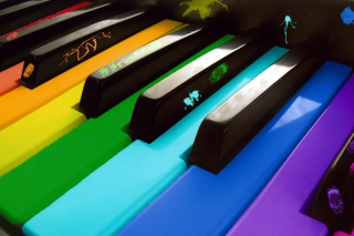 Free Colorful Piano Keyboard Picture for Android, iPhone and iPad