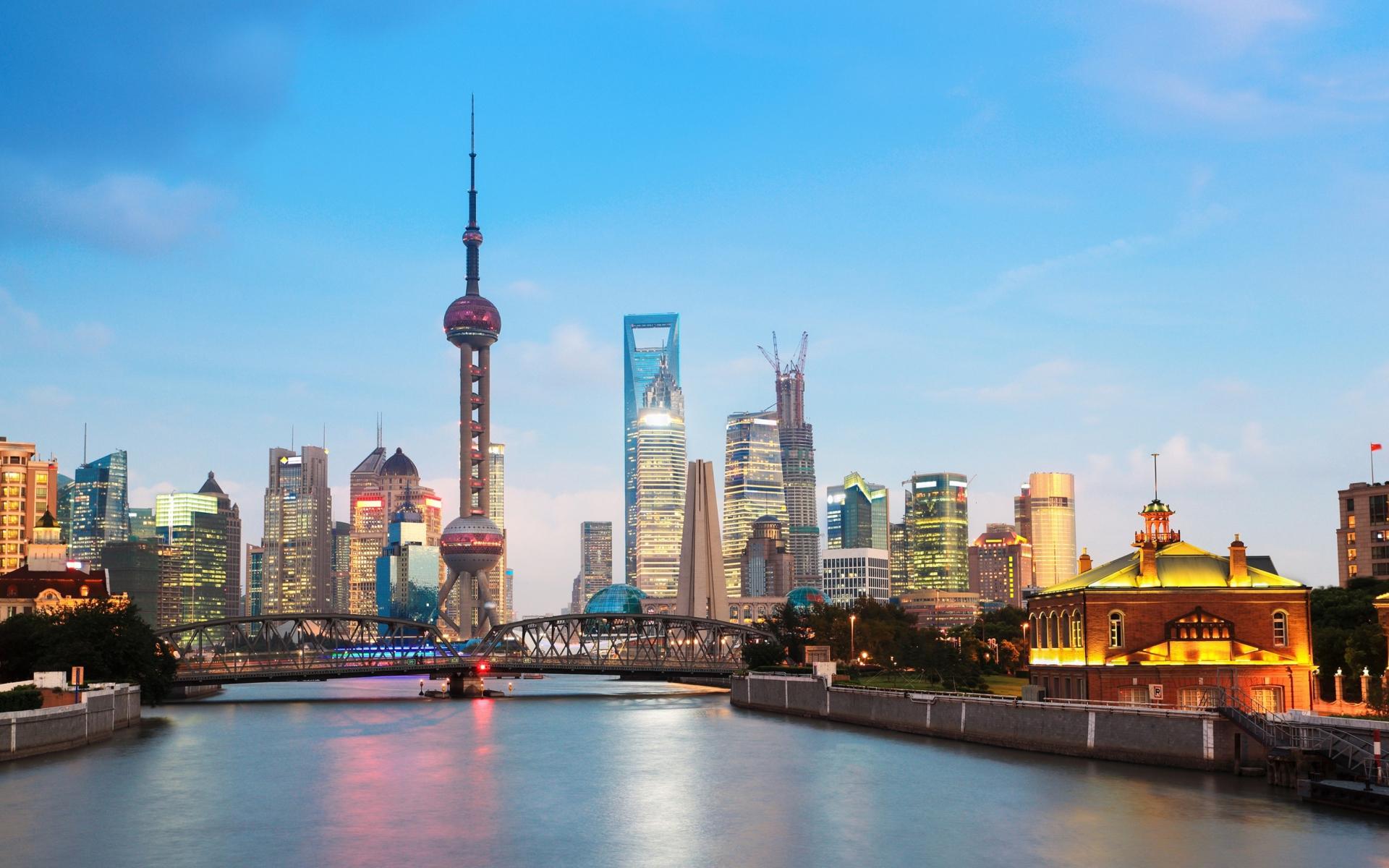 Shanghai Cityscape para Widescreen Desktop PC 1920x1080 Full HD