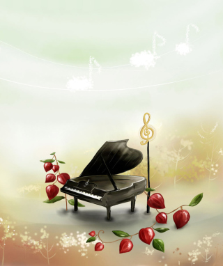 Piano And Notes Wallpaper for HTC Titan