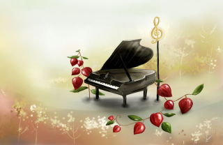 Free Piano And Notes Picture for Android, iPhone and iPad