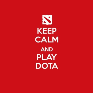 Keep Calm And Play Dota - Obrázkek zdarma pro iPad Air