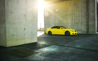 Yellow BMW Background for Android, iPhone and iPad