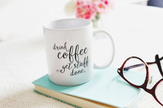 Drink Coffee Quote Wallpaper for Android, iPhone and iPad