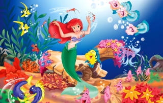 Little Mermaid Background for Android, iPhone and iPad