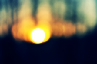 Blurred Sunset Wallpaper for Android, iPhone and iPad