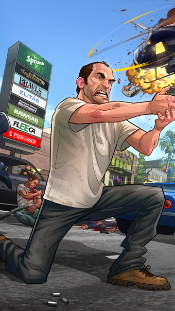 GTA 5 Battle wallpaper 360x640
