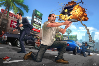 GTA 5 Battle Picture for Android, iPhone and iPad