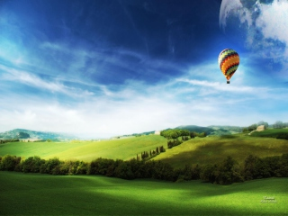Kostenloses Air Balloon In Sky Wallpaper für 1280x720