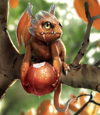 Free Baby Dragon Picture for HTC Titan