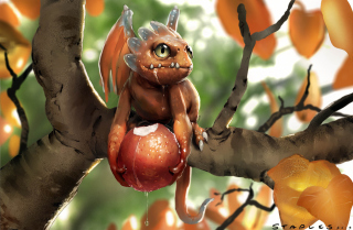 Baby Dragon Background for Android, iPhone and iPad