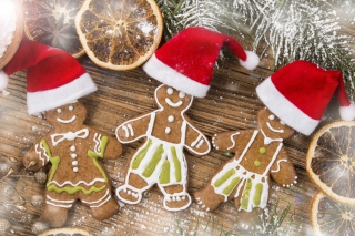 Christmas Ginger Bread Background for Android, iPhone and iPad