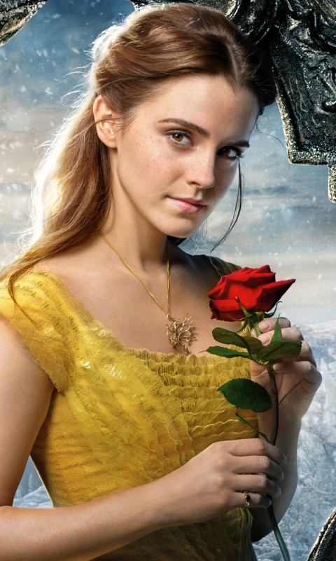 Sfondi Beauty and the Beast Emma Watson 480x800