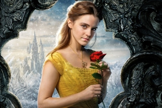 Beauty and the Beast Emma Watson sfondi gratuiti per 1024x600