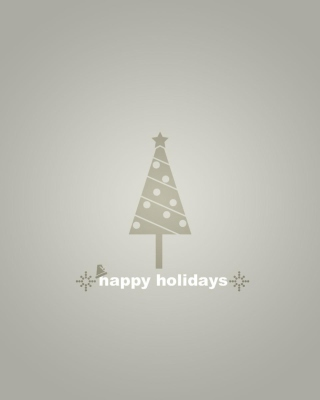 Free Grey Christmas Tree Picture for Nokia X1-00