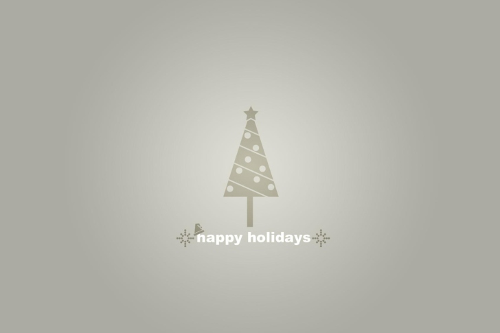 Grey Christmas Tree wallpaper