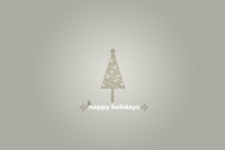 Grey Christmas Tree Background for Android, iPhone and iPad