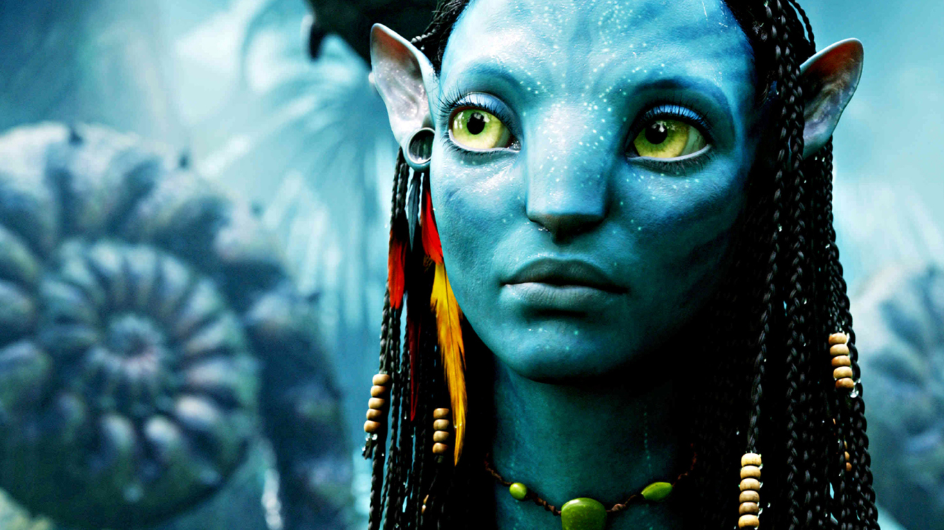 Avatar Neytiri wallpaper 1366x768