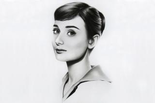Audrey Hepburn Portrait Background for Android, iPhone and iPad
