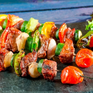 Shish kebab barbecue sfondi gratuiti per iPad 3