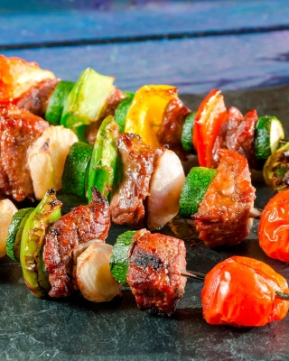 Shish kebab barbecue Wallpaper for Nokia C2-02