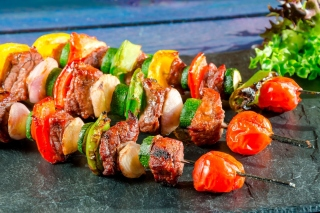 Shish kebab barbecue Wallpaper for Samsung Galaxy Tab 10.1