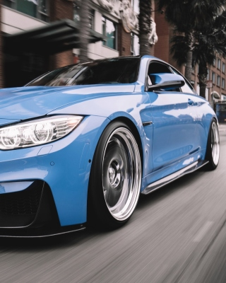 BMW M3 Blue Background for iPhone 6 Plus