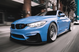 BMW M3 Blue Background for Android, iPhone and iPad