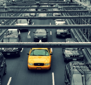 New York City Yellow Cab Background for 128x128