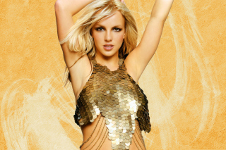 Britney Spears In Golden Dress - Obrázkek zdarma