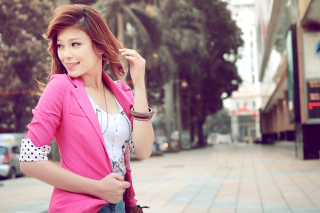 Asian Redhead Girl Wallpaper for Android, iPhone and iPad