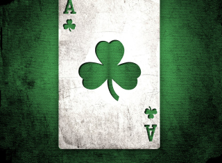Shamrock Card Ace Picture for Android, iPhone and iPad