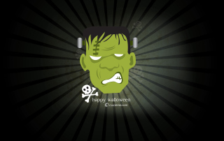 Green Frankenstein Background for Android, iPhone and iPad