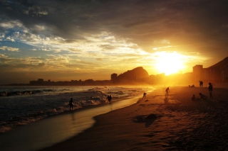 Copacabana Beach Sunset sfondi gratuiti per cellulari Android, iPhone, iPad e desktop