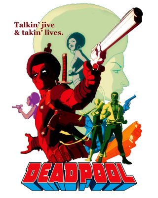 Deadpool Wallpaper for Nokia Asha 310