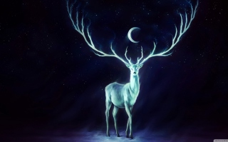 Magic Deer Painting Background for Android, iPhone and iPad